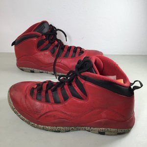 AIR JORDAN 10 RETRO 'BULLS OVER BROADWAY' Red 10.5